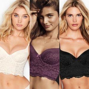Victoria's Secret Body Demi Long Line Lace 38B
